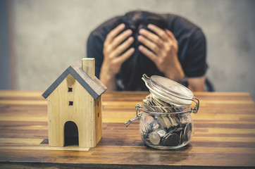 People having financial problems  with home debt, Money concept., real estate, buy an apartment
