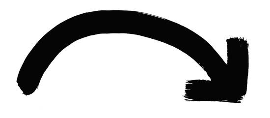 Handgemalter schwarzer Pfeil