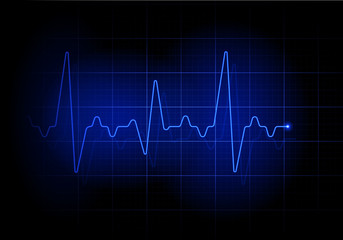 Blue futuristic heartbeat line background. Earthquake sign illustration