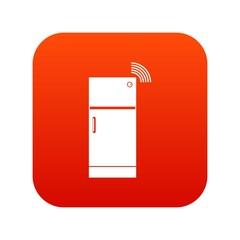 Fridge icon digital red