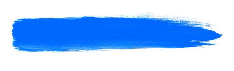 Pinselstreifen mit blauer Farbe