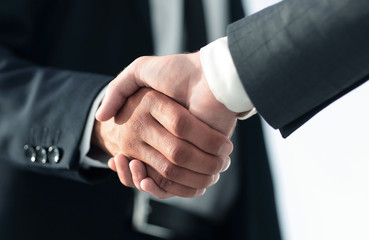 Business men giving a handshake. Business concept
