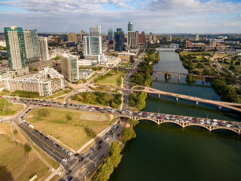 Aerial view of Austin, Texas, skyline