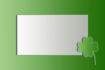 St. Patricks Day background and shamrock