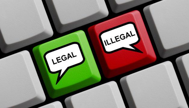 Legal oder Illegal online