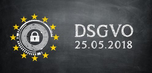 DSGVO Datenschutz Grundverordnung Banner & Datum