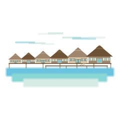 Maldives and Bora Bora Island Travel Landscape
