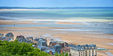 The beach of Houlgate, Normandy, France