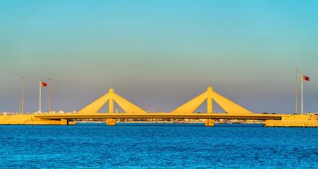 Shaikh Isa bin Salman Causeway Bridge connecting Manama and Muharraq in Bahrain