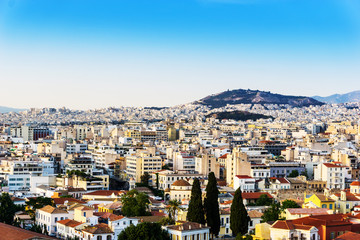 view of Buildings around Athens city, Greece