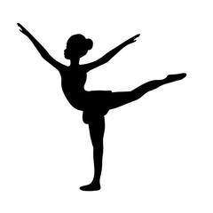 Girl gymnastic sport silhouette sportswoman