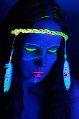 Neon hippie girl