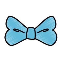 decorative bow icon over white background vector illustration