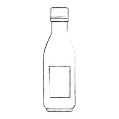 plastic bottle beverage icon vector illustration design