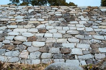 明石城・城壁の石