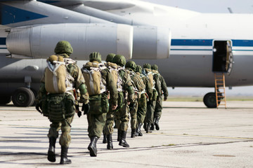 the paratroopers are on the plane