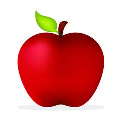 Roter frischer Apfel
