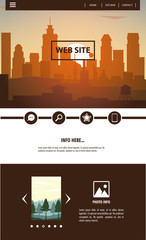 Urban website template vector illustration graphic design