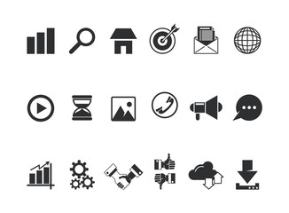 Collection of multimedia icons vector illustration graphic design