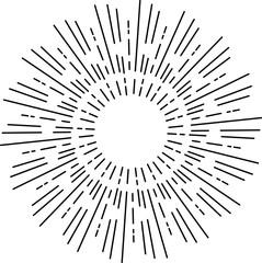 Vintage sunburst, sun rays, sunbeam, vector design element for your design