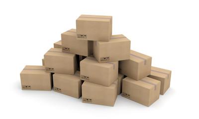 boites carton paquets colis transport