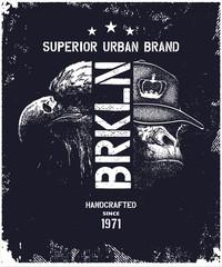 vintage urban typography vector illustration