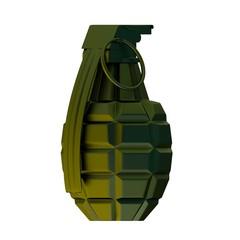Green metal grenade 3d illustration