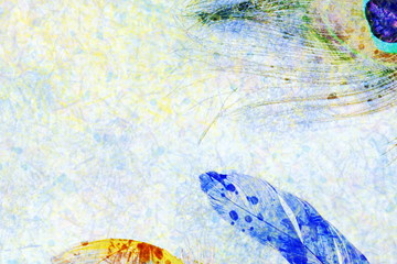 feather watercolor background