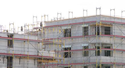 Baustelle, Neubau im Rohbau