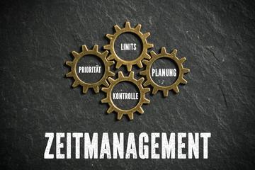 Zeitmanagement aus Kombination zwischen Priorität, Limits, Planung und Kontrolle