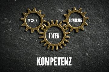 Kompetenz als Kombination aus Wissen, Ideen und Erfahrung