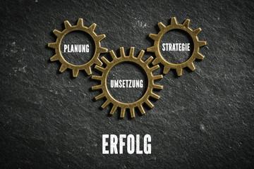 Erfolg als Kombination aus Planung, Strategie und Umsetzung