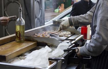 Cooking. Borough Market.