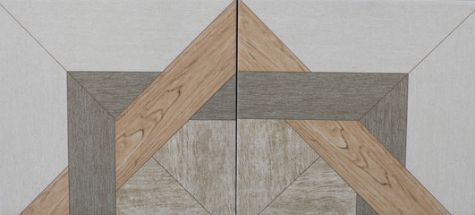Wall Mural - abstract geometric pattern, ceramic tile
