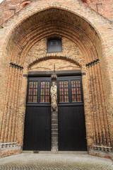 Gothic church in Brugge, Belgium.