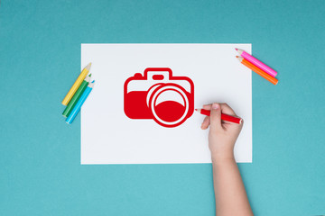 photography on the theme of drawing and creativity