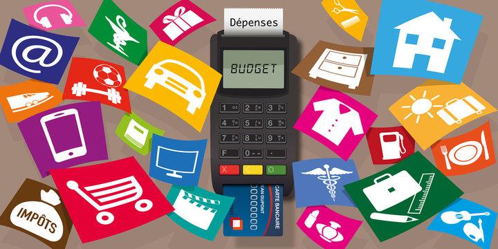 budget - dépense - dépenses - acheter - achat - consommation - carte bleue - dépenser