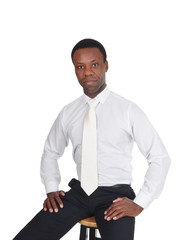 Portrait of serious African business man