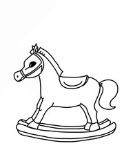 toy horse cartoon  drawing