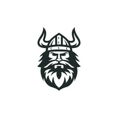 viking logo vector graphic abstract download template