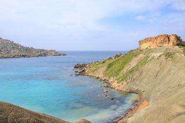Ghajn Tuffieha, Malta, Westküste, Klippen