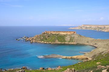 Ghajn Tuffieha, Golden Bay, Malta, Westküste, Klippen