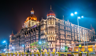 Taj Mahal Palace, a historic builging in Mumbai. Built in 1903