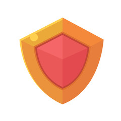 Shield icon. Game element.