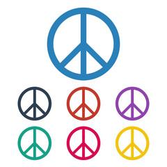Peace symbol icons set.
