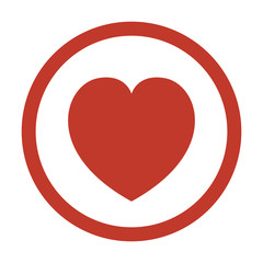 Heart icon on white background.