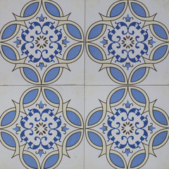 abstract floral mosaic pattern, ceramic tile