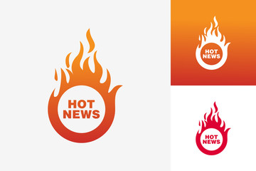 Hot News Logo Template Design Vector, Emblem, Design Concept, Creative Symbol, Icon Wall mural