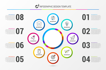 Infographic design template. Business concept with 8 steps