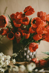Close-up of bouquet on table